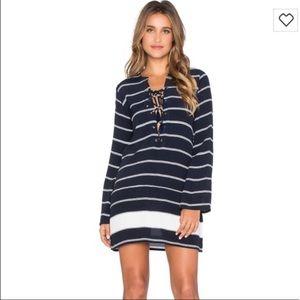 Faithfull the Brand striped lace up mini dress